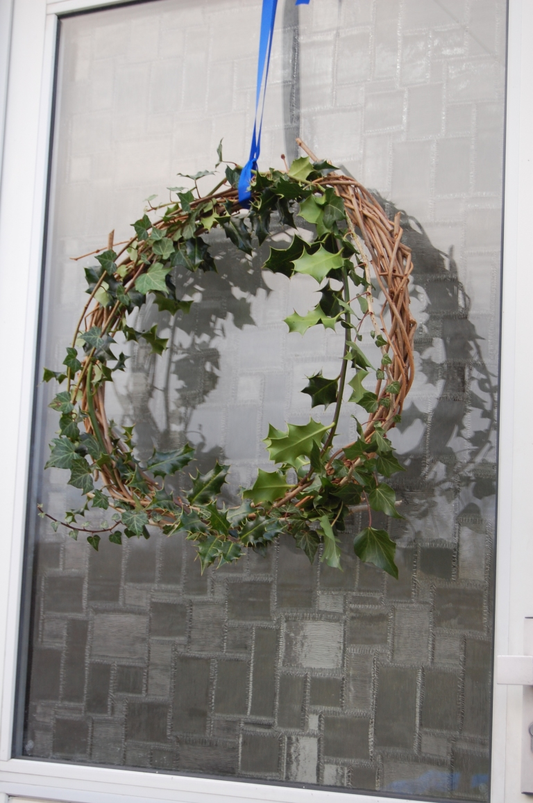 Homemade simple Christmas wreath