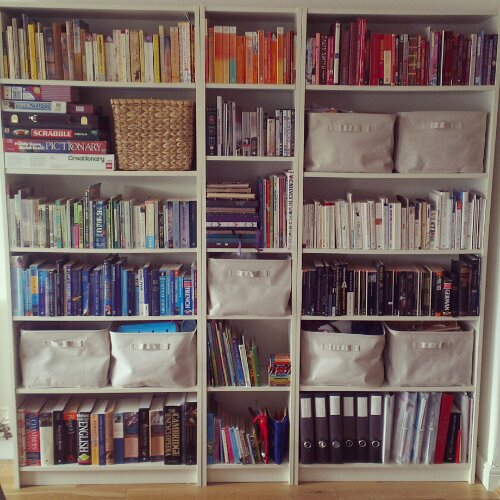 Bookshelf by colour