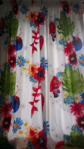 Ikea fabric curtain floral