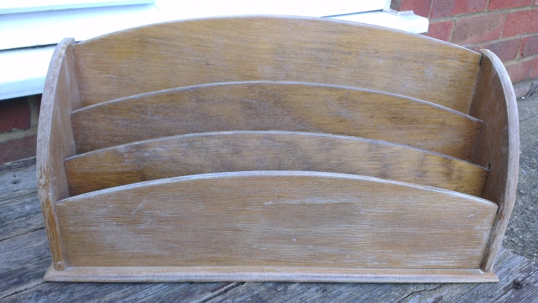 vintage letter rack sanded ready to paint