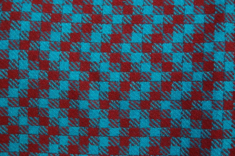 Square check/ zig zag fabric