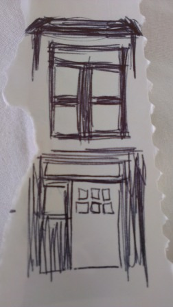 50s house new front door metal frame