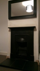 Newly fitted cast iron fireplace