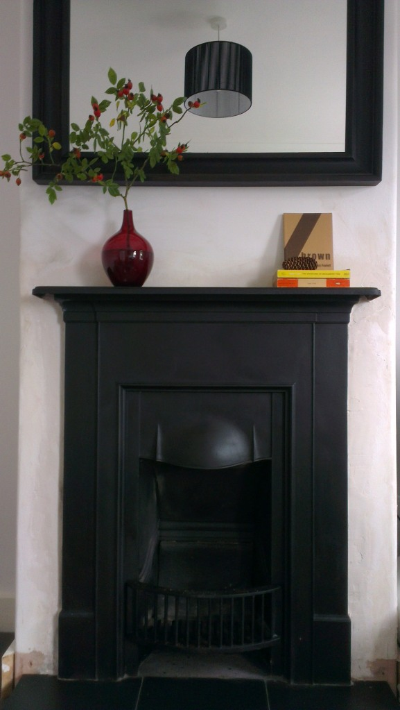 Autumn mantelpiece cast iron fireplace