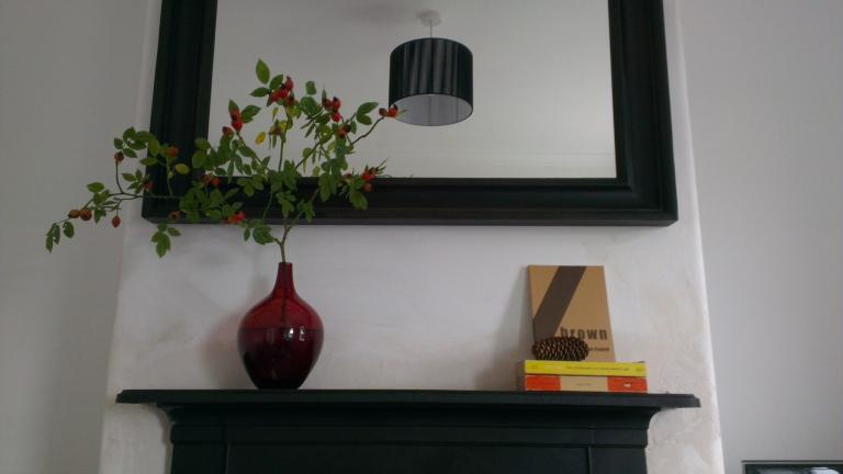 Autumn mantelpiece fireplace display