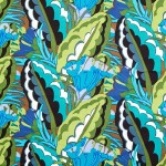 V&A cotton fabric - Deco leaf