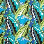 V&A cotton fabric - Deco leaf