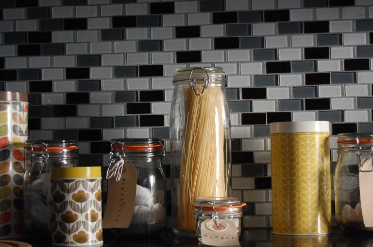 Kilner jars and patterned storage jars