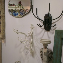 Antiques - mirror and coat hooks - The Old Flight House