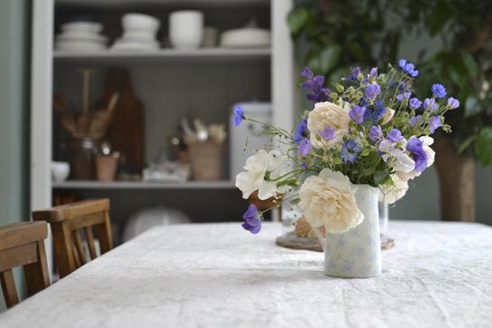 Fresh flowers in a jug