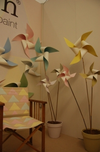 Earthborn's clay-based paint stand at the Ideal Home Show