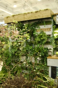 Plant and wood structure with living roof