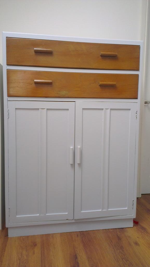 Painted 1930s cupboard in progress