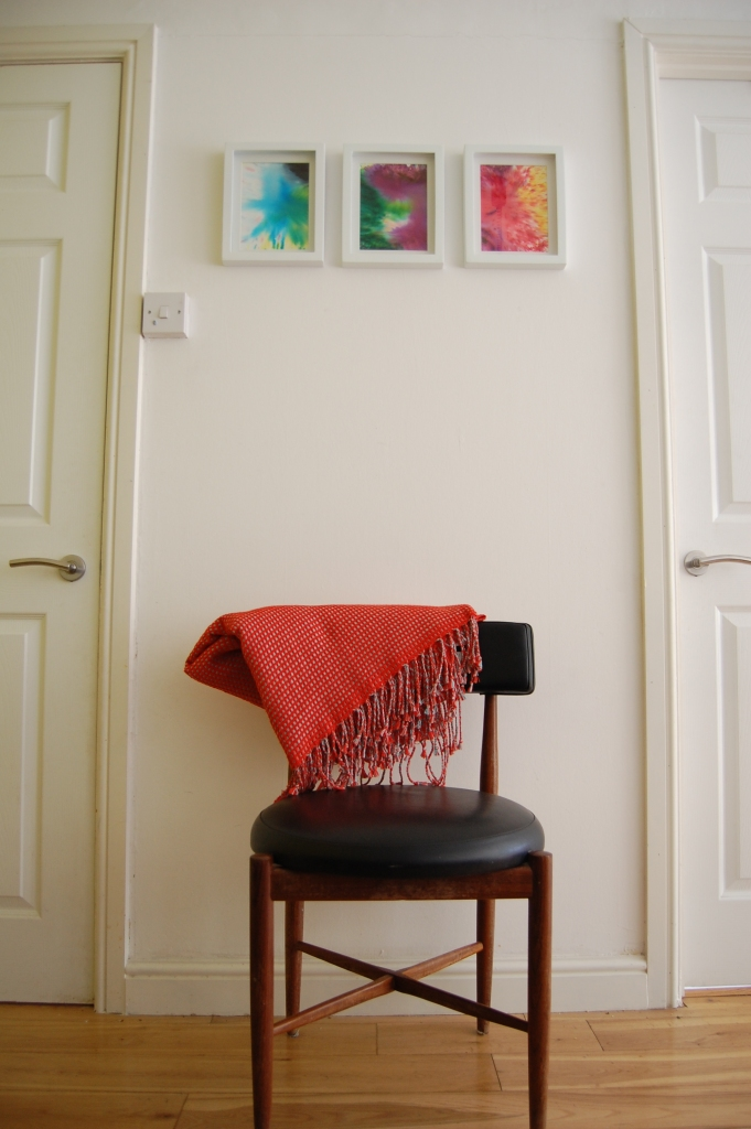 powdered paint art framed with g plan chair