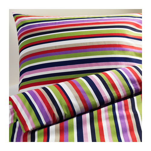Ikea dvala stripey duvet cover and pillow case