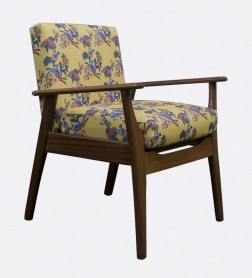 Upcycled retro chair UK-made fabric
