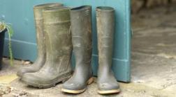 Muddy wellies. Image via National Trust