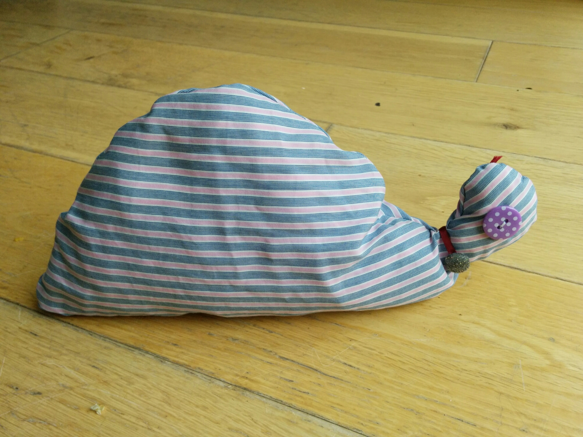 Handmade tortoise toy from old shirt