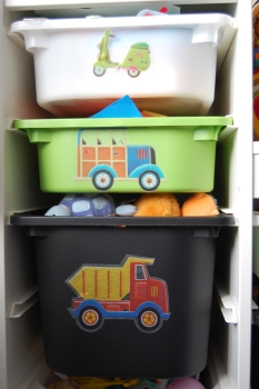 Ikea Trofast children's storage with vinyl stickers