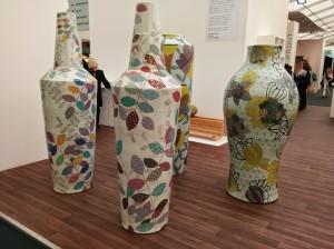 Giant ceramic vases Felicity Aylieff