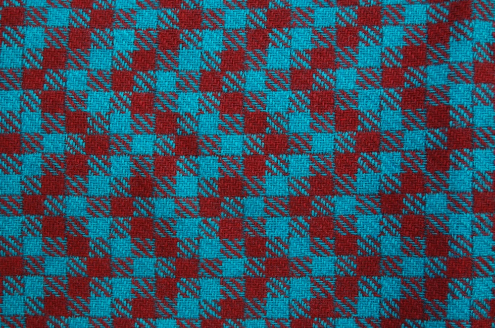 Burgundy and red check zigzag material