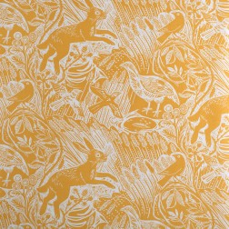 Harvest Hare (corn) fabric by Mark Herald at St Jude's