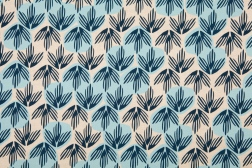 British Woven Frond (blue) fabric by Sarah Waterhouse