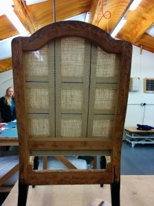 Upholstery webbing chair back