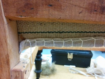 Traditional upholstery stitching