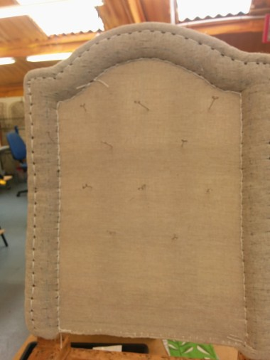 Deep buttoning and stithcing in traditional upholstery